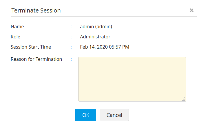 session termination in Access Manager Plus
