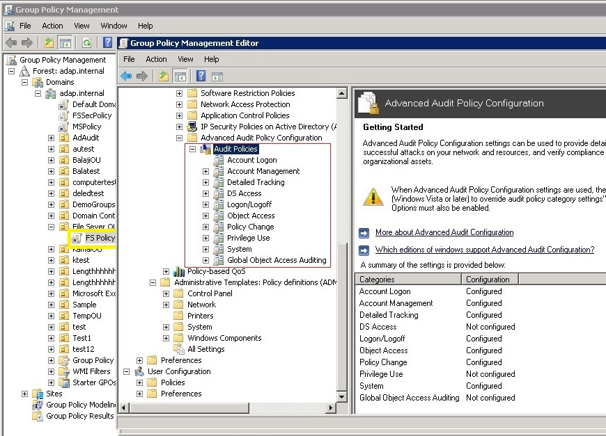Configuring Advanced Audit Policy For Windows File Servers
