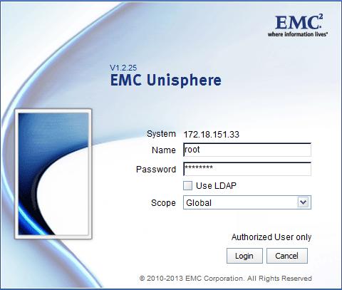 EMC Control Station IP Address