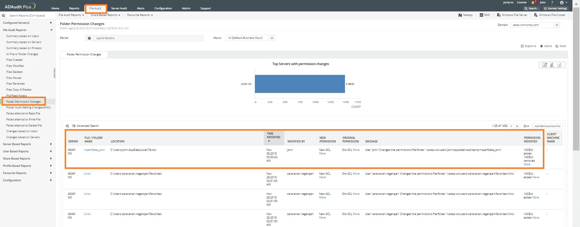 folder permission report
