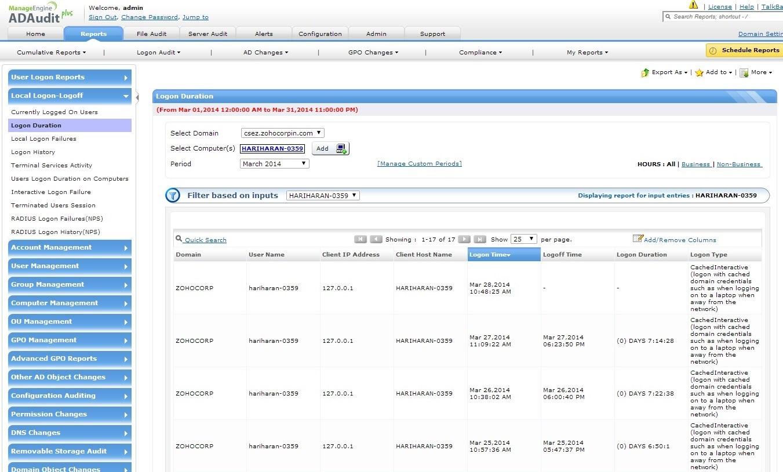 Audit windows active directory member servers local logon logoff