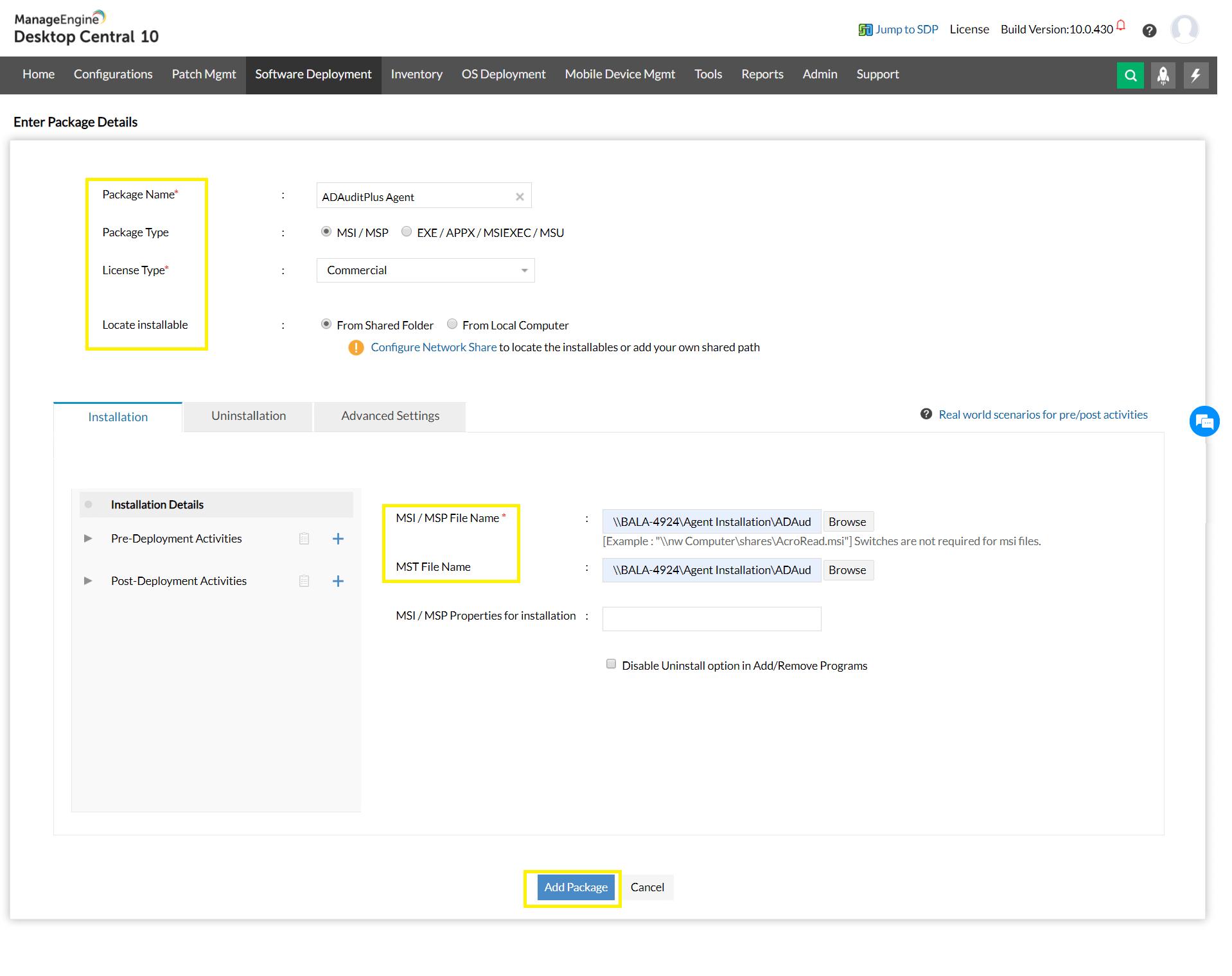 ADAuditPlus Agent Configuration Setup