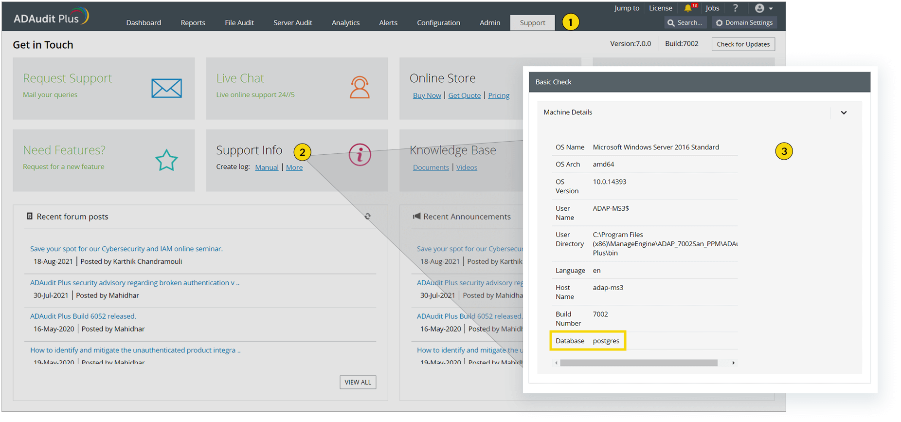 How do I find my database type?