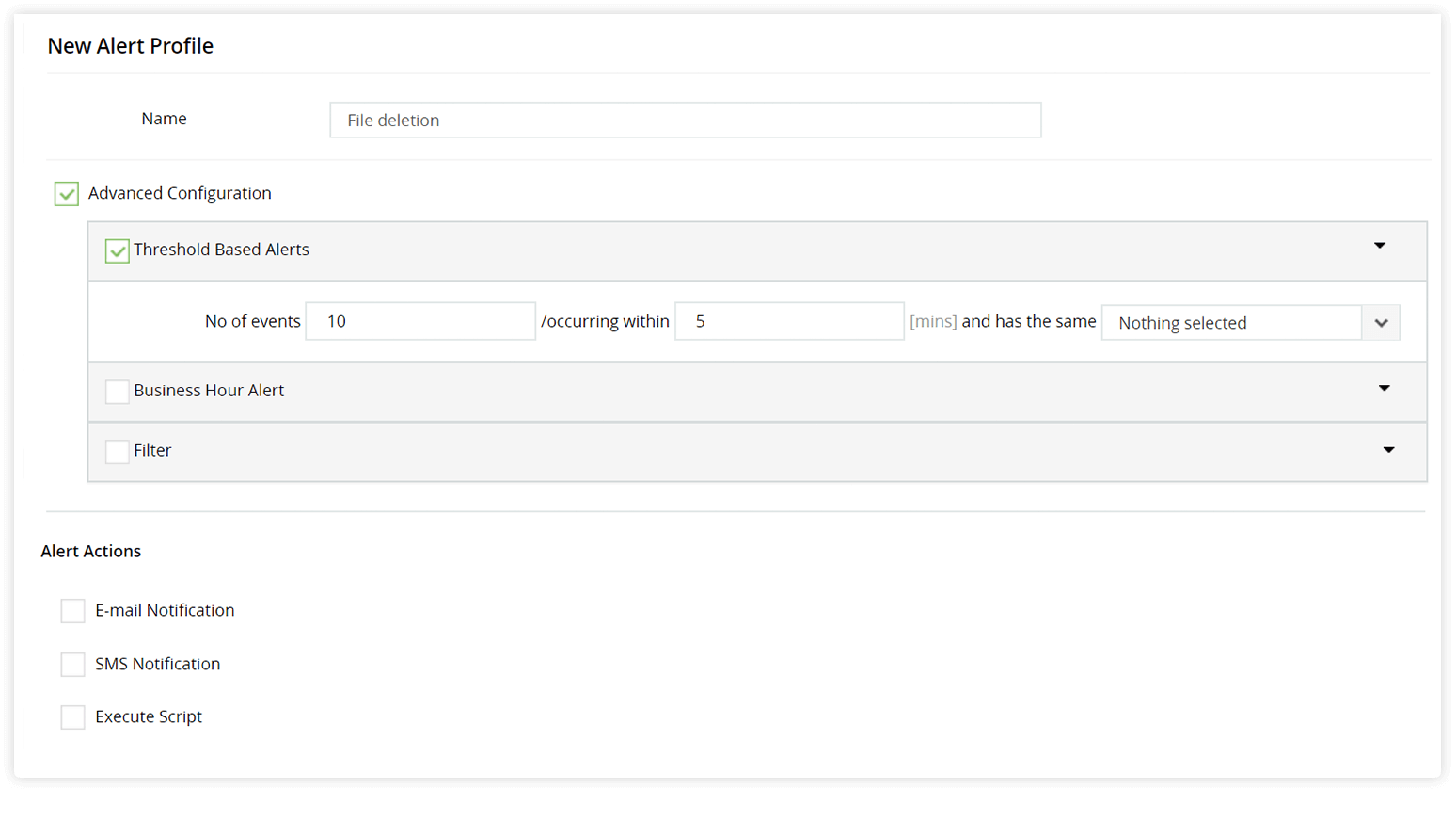 Crear perfil de alerta para cambios en la membresía del grupo