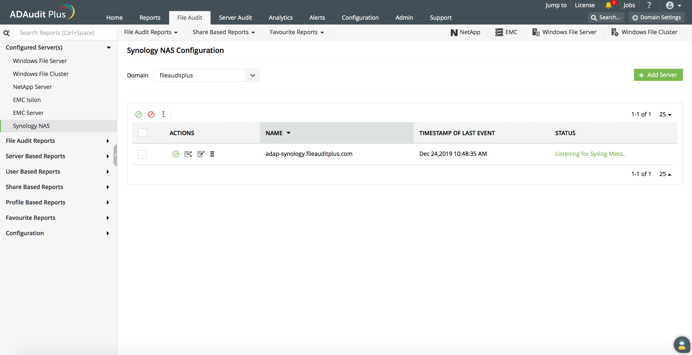 Synology NAS Configuration