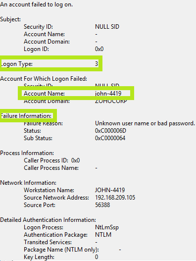 Windows Event ID 4625, failed logon— Dummies guide, 3 minute