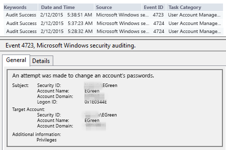 How to check password change history in Active Directory