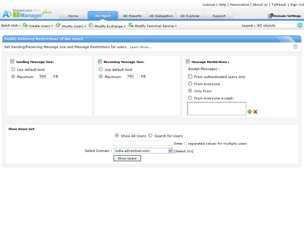 Active directory bulk user management create update move and exchange attributes yelopaper Gallery