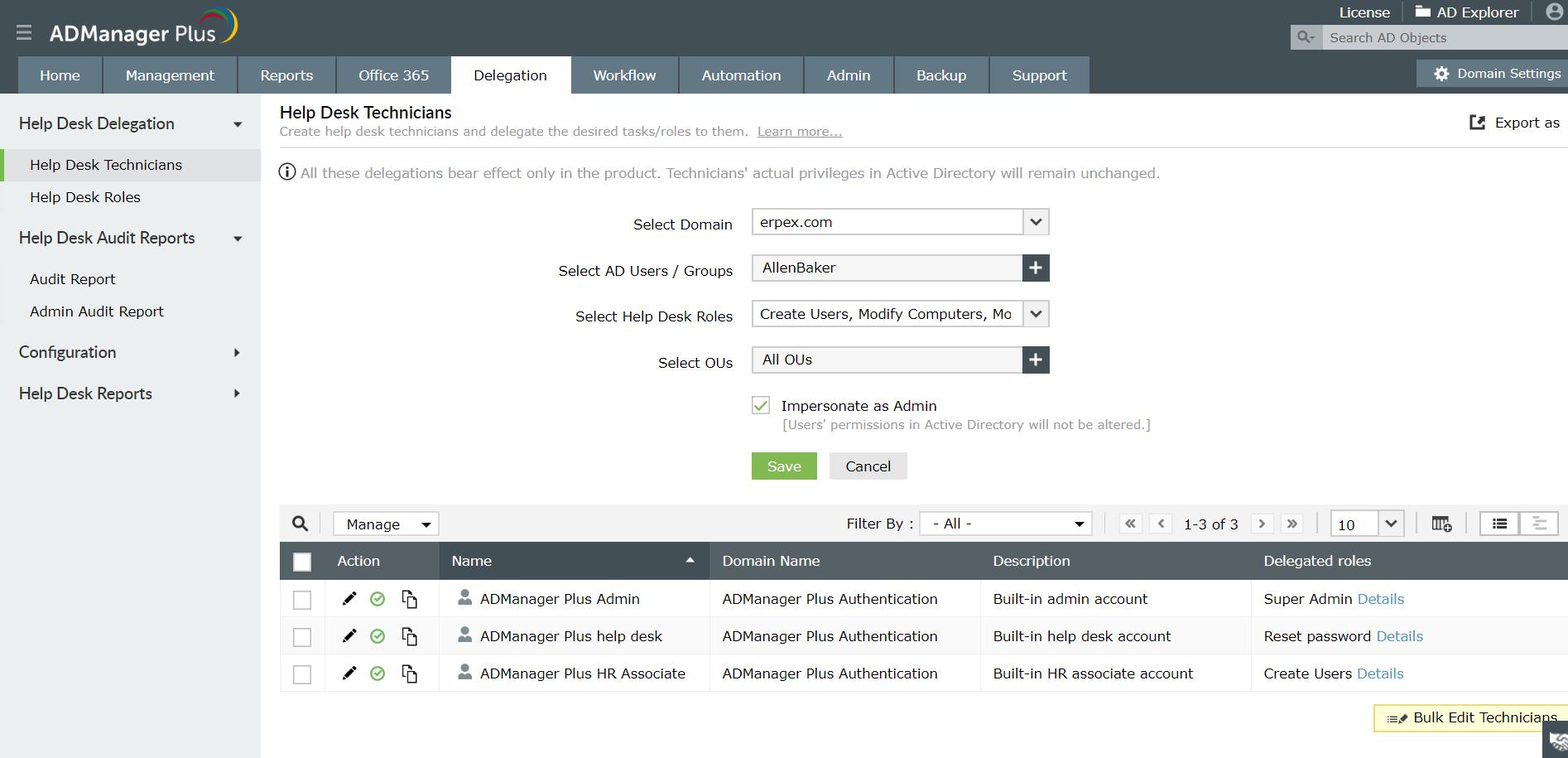 Active Directory Helpdesk Delegation Delegate