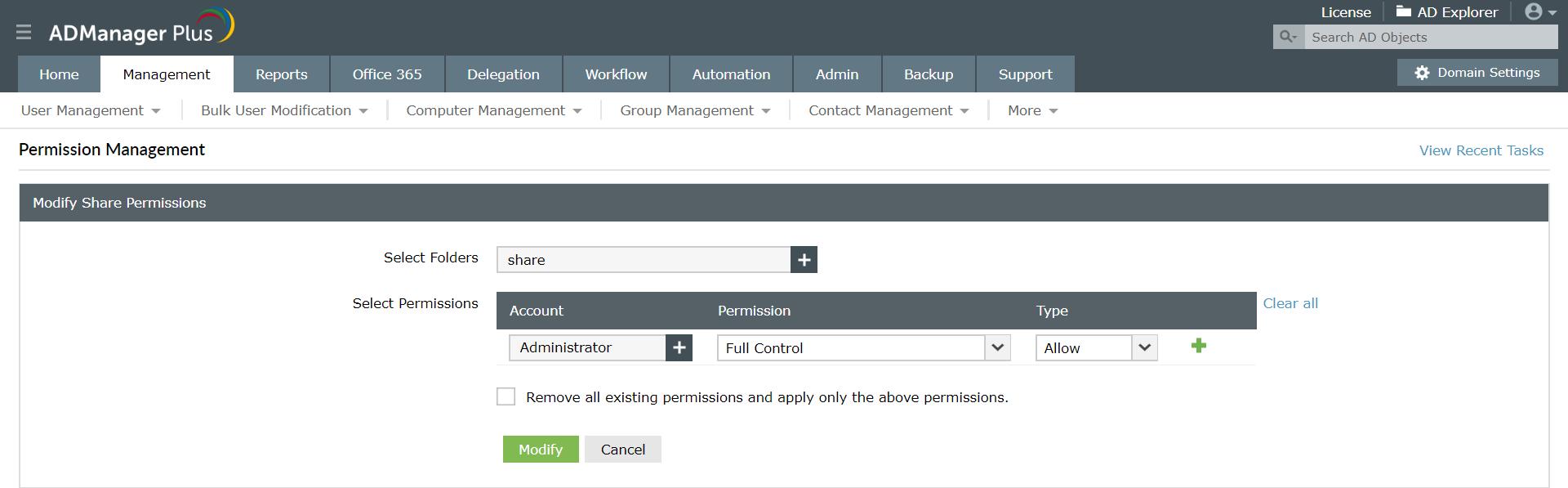 NTFS Permissions Management tool - Set, modify or revoke