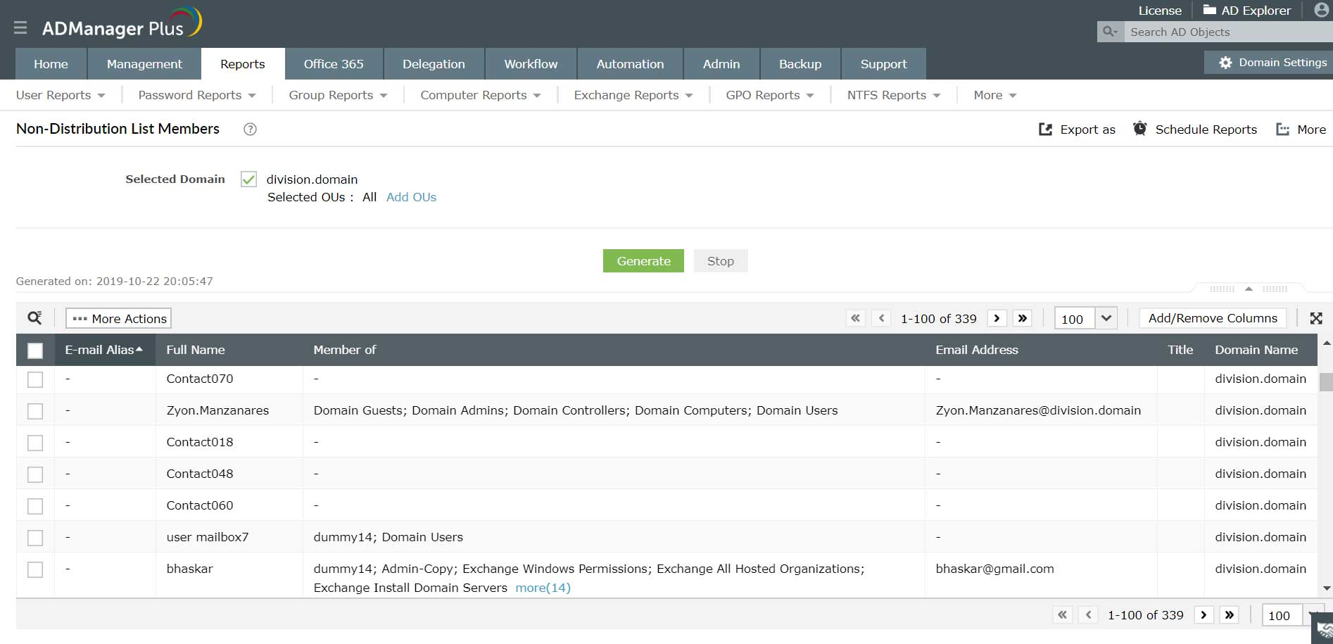 Exchange Server Reporting simplified: Distribution lists, OWA ...