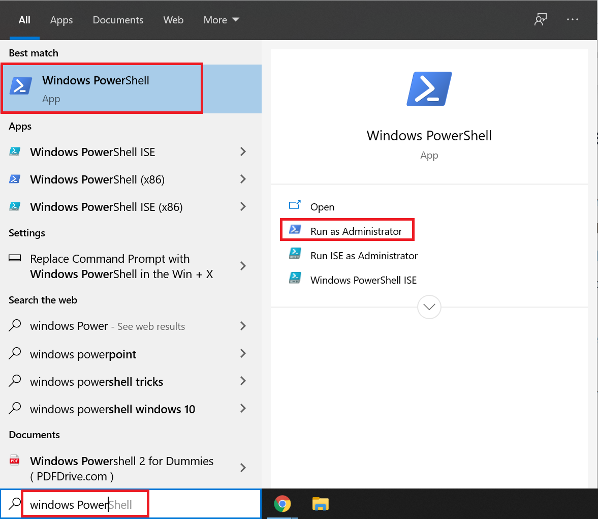 how to launch PowerShell