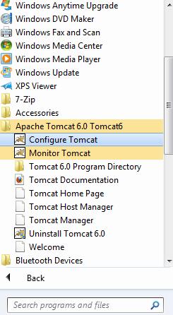 Configure tomcat