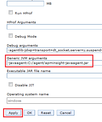 APM Insight Java Agent for Websphere