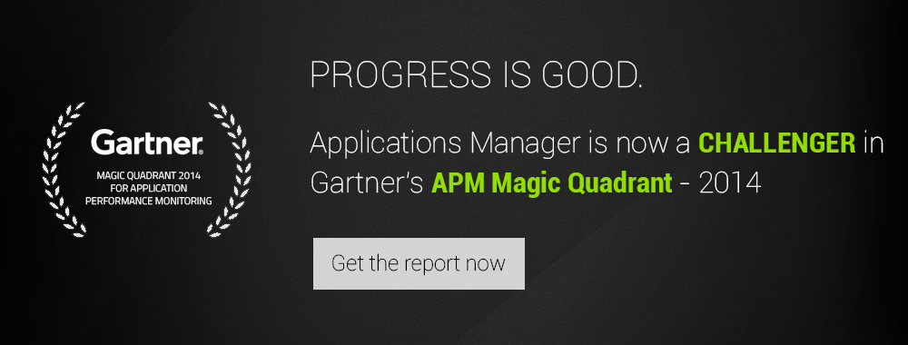 ManageEngine Applications Manager Gartner Magic Quadrant Report