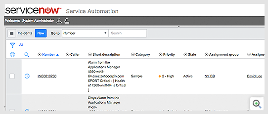 Connect Applications Manager with ServiceNow