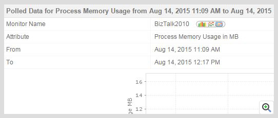 ManageEngine Applications Manager BizTalk Memory Usage