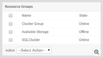 Manage failovers in resource groups