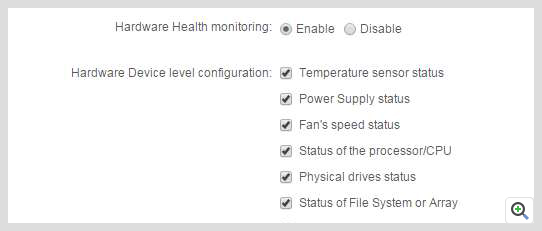 ManageEngine Applications Manager Hardware Monitoring Alerts