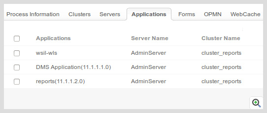 Detect the performance of applications running on the server