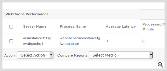 Monitor the web cache performance