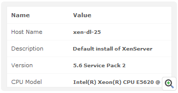 Xenserver Host and VM Configuration