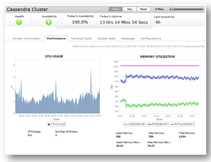 Monitor Cassandra clusters with Applications Manager