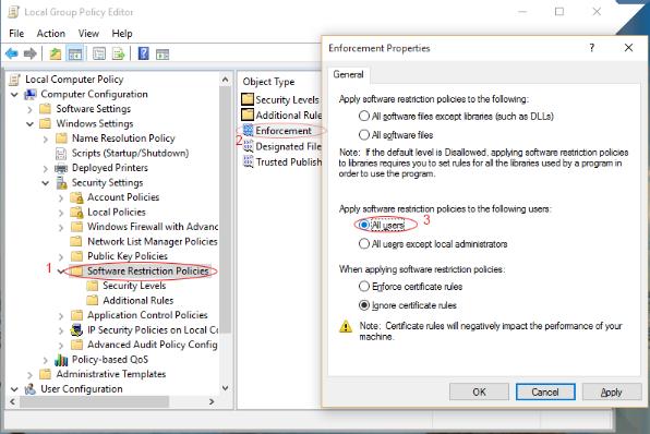 Block Executable | ManageEngine Desktop Central