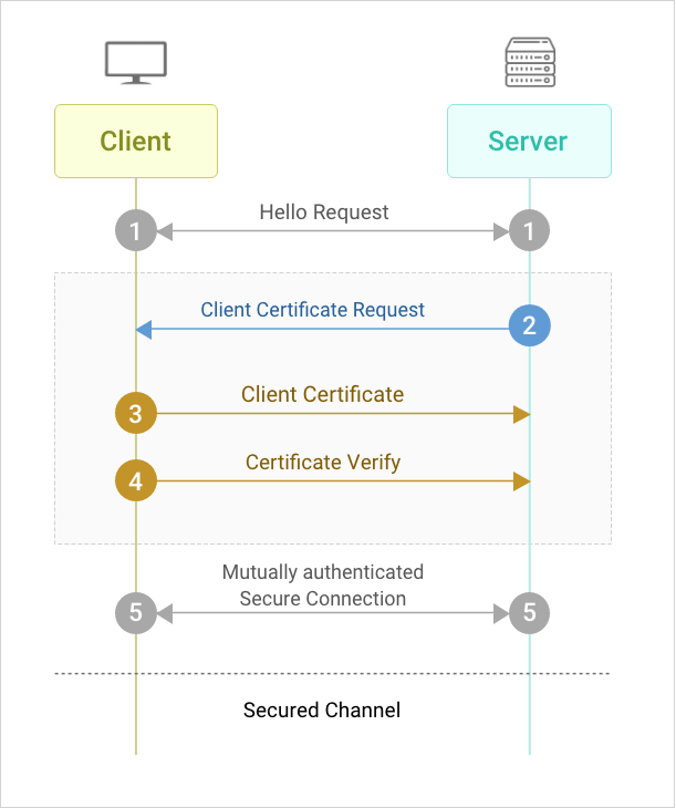 Working of client certificate authentication