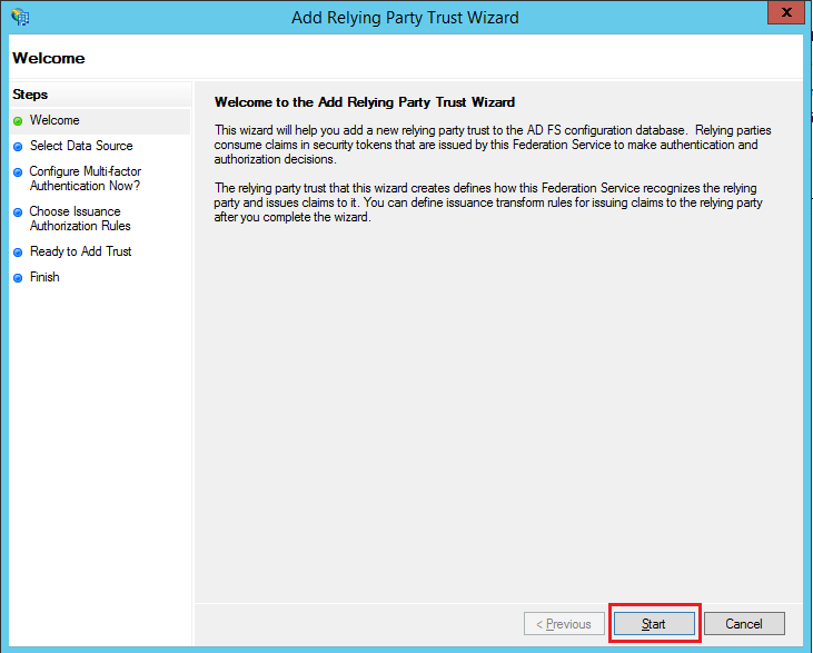 SAML Authentication settings for AD FS