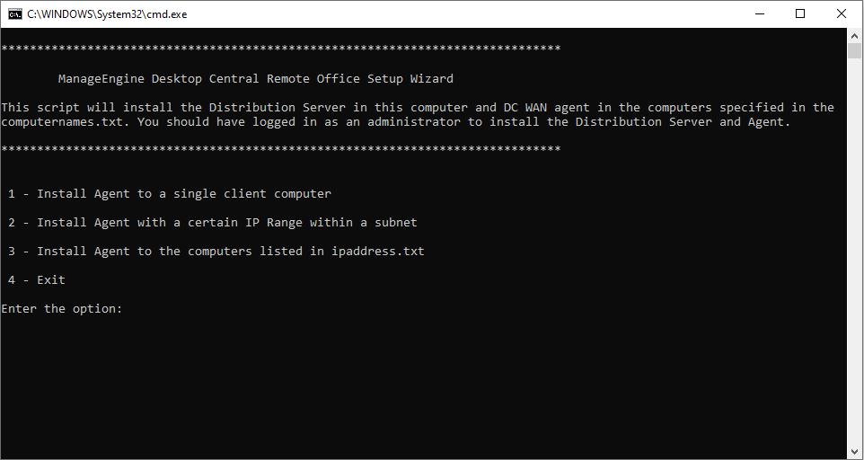 Agent Installation Via IP