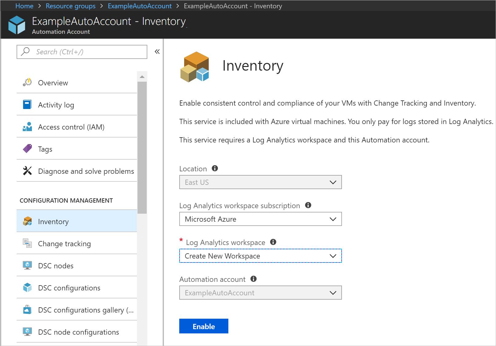 Desktop Central: Creating Azure Inventory