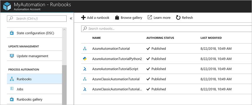 Desktop Central: Creating Azure Runbook