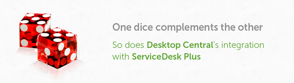 Desktop Central integration with ServiceDesk Plus