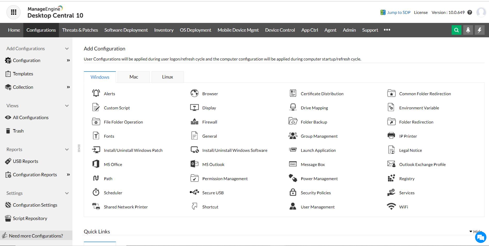 Computer configuration - ManageEngine Desktop Central Computer Configurations