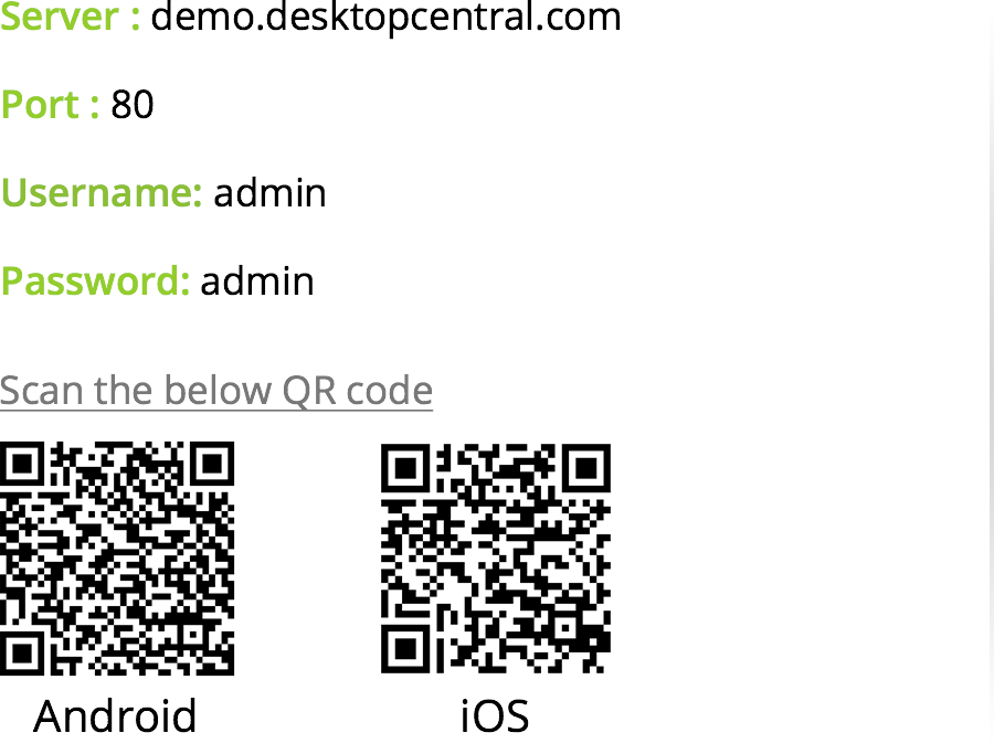 Desktop Central Mobile App