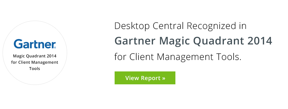 Gartner Magic Quadrant 2014 for Client Management Tools
