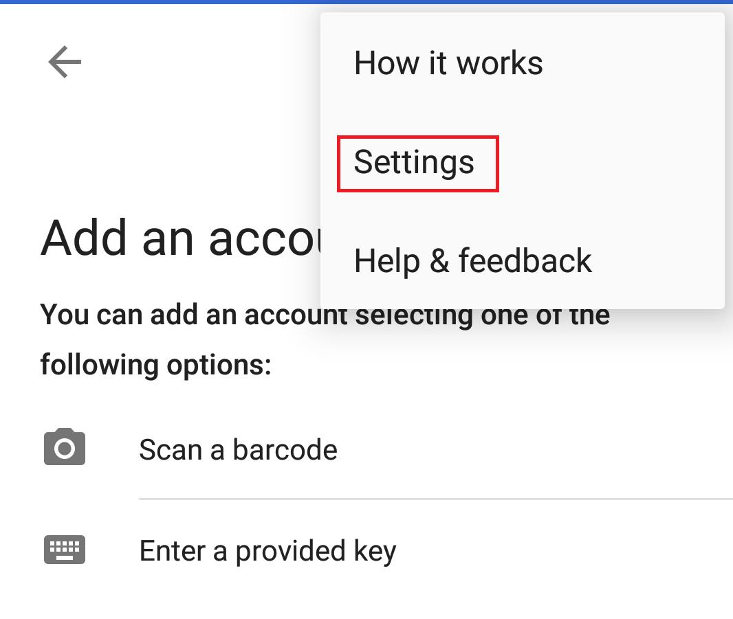 Google Authenticator Settings