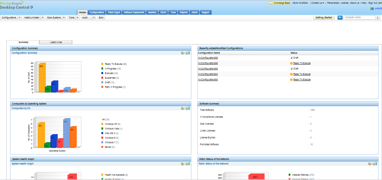 ManageEngine Desktop Central Screen shot