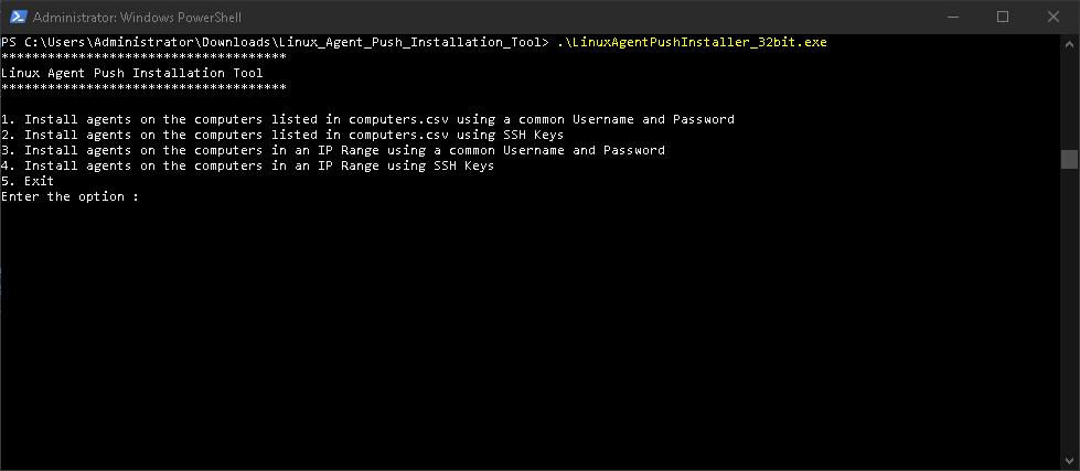 Linux Agent Deployment