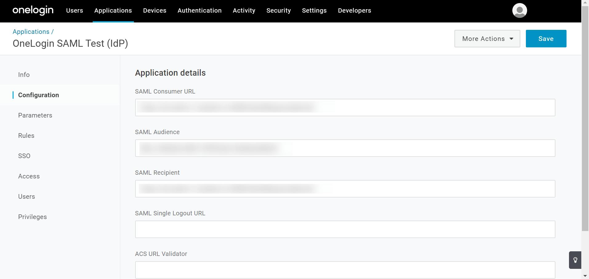 OneLogin SAML authentication