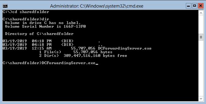 forwarding server installation