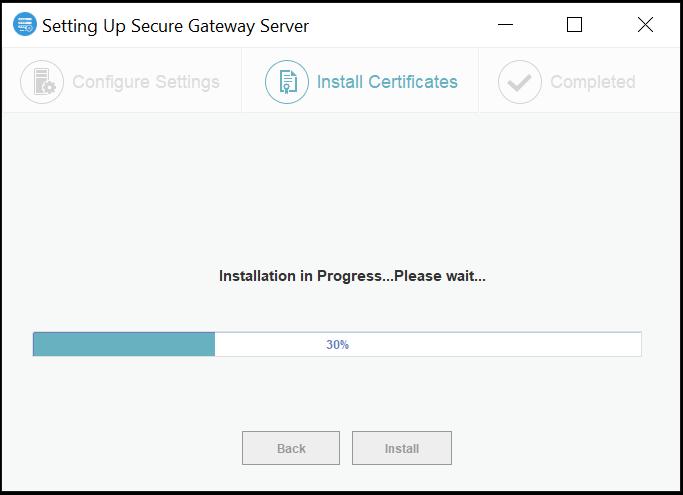 Secure Gateway Server Certificate installation