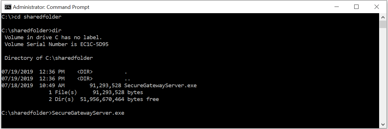 Secure Gateway Server installation