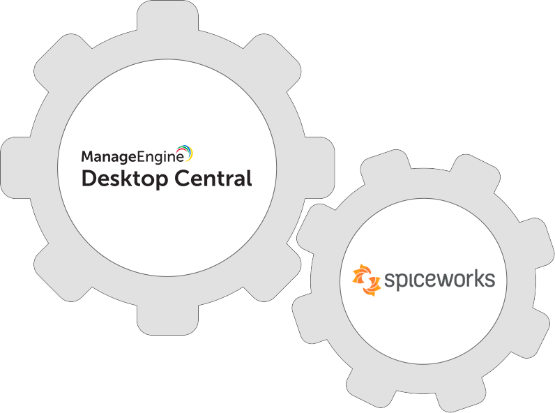 Integrate Desktop Central with Spiceworks and boost your productivity.