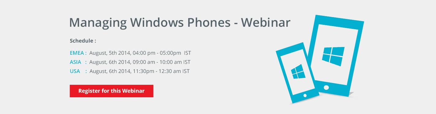 Managing Windows Phones using Desktop Central