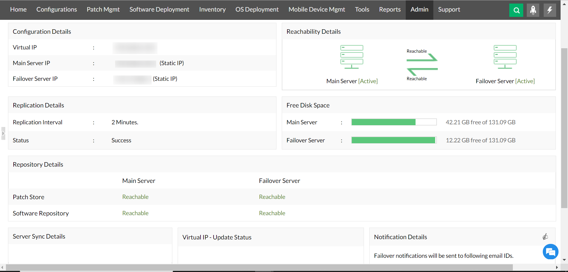 Desktop Central with Failover server