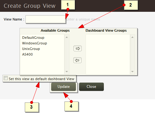 Add Dashboard View Profile