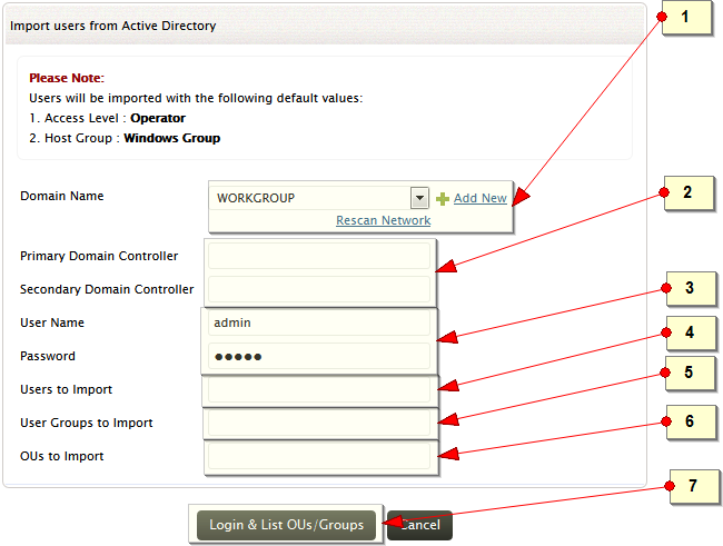 Import users from Active Directory