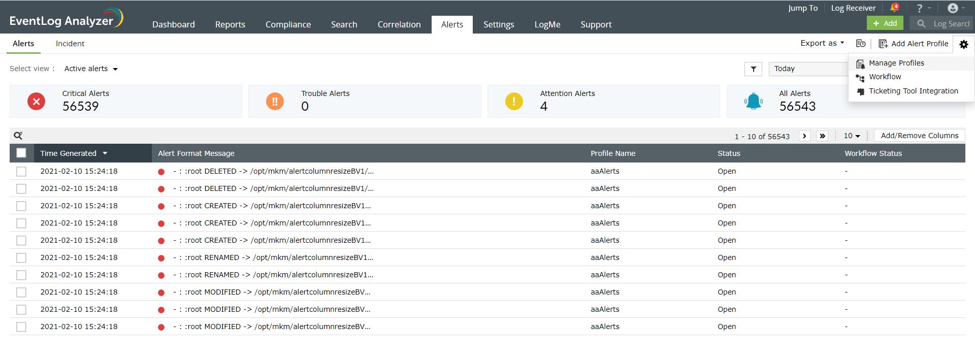 filtering-alerts